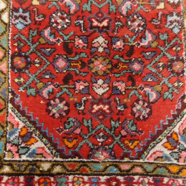 Persian Rug Runner, 2' 9 x 6' 10 Red Hamedan