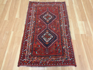 Persian Rug, 2' 9 x 4' 5 Red Shiraz - Jessie's Oriental Rugs