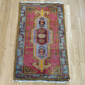 Turkish Rug, 2' x 3' 5 Red