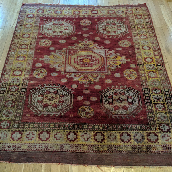 Turkish Rug, 4' 8 x 5' 7 Antique Red - Jessie's Oriental Rugs