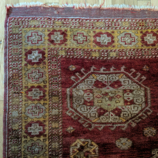 Turkish Rug, 4' 8 x 5' 7 Antique Red