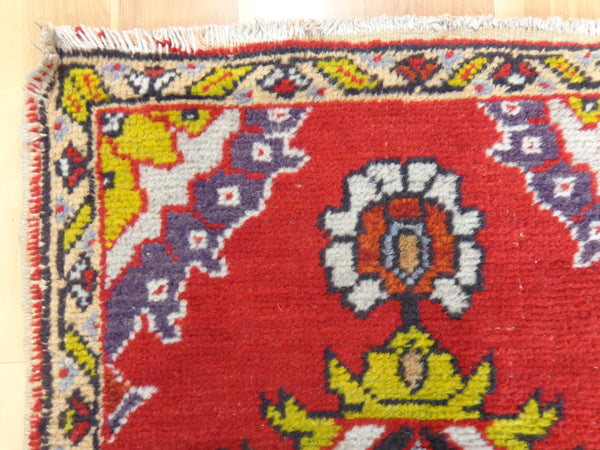 Turkish Rug, 1' 10 x 3' 2 Red Yastik - Jessie's Oriental Rugs