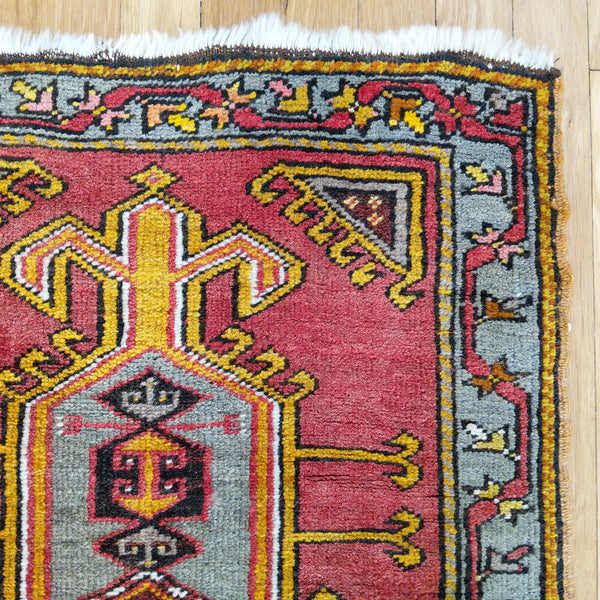 Turkish Rug, 2' x 3' 5 Red - Jessie's Oriental Rugs