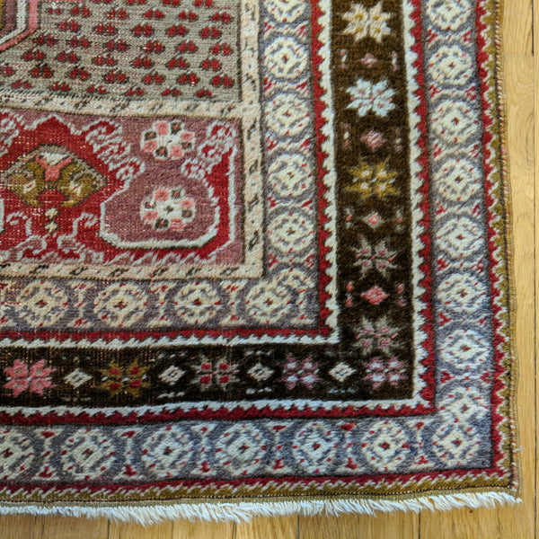 Turkish Rug, 3' 7 x 5' 10 Red