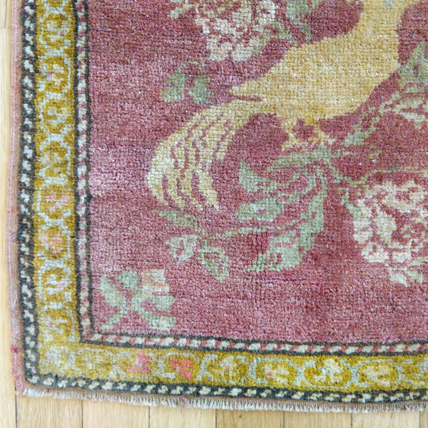 Turkish Rug, 1' 8 x 1' 7 Red - Jessie's Oriental Rugs