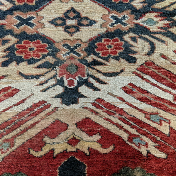 Turkish Rug, 4' 2 x 5' 6 Red Tribal