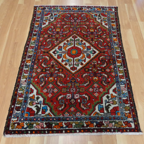 Persian Rug, 3' 3 x 4' 10 Red Hamedan