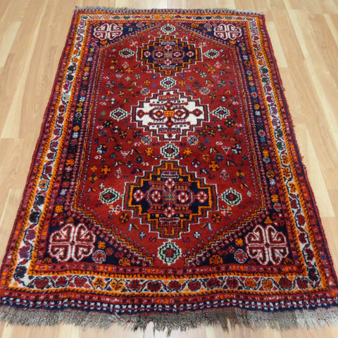 Persian Rug, 3' 7 x 5' 7 Red Shiraz