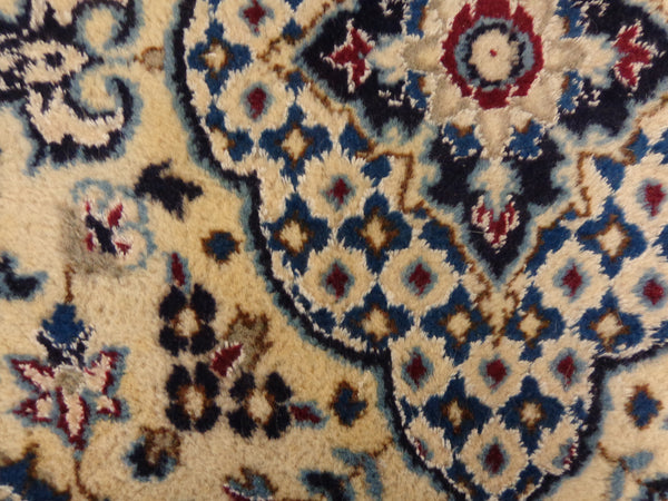 Persian Rug, 3' x 4' 9 Blue Nain - Jessie's Oriental Rugs
