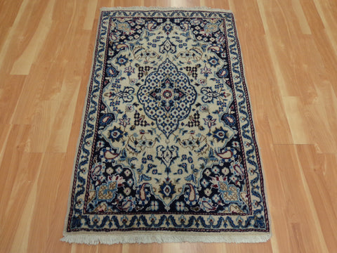 Persian Rug, 3' x 4' 9 Blue Nain