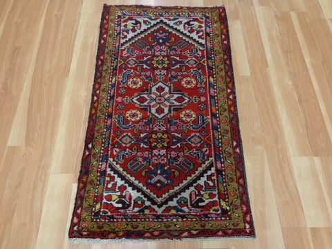 Persian Rug, 2' 4 x 4' 1 Red Hamedan