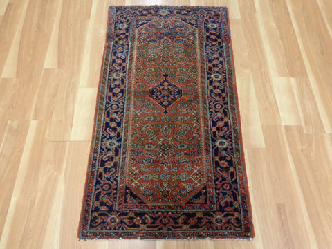Persian Rug, 2' 5 x 4' 3 Red Orange Hamedan