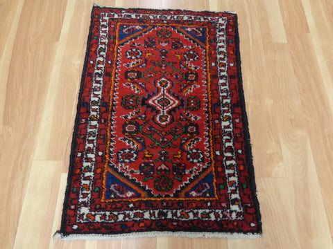 Persian Rug, 2' x 2' 11 Red Hamedan
