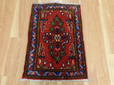 Persian Rug, 1' 8 x 2' 4 Red Hamedan