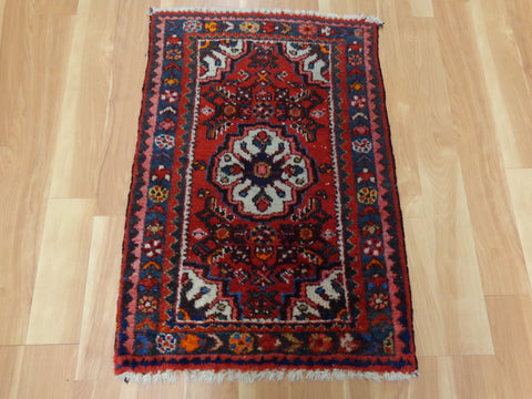 Persian Rug, 1' 11 x 2' 10 Red Hamedan