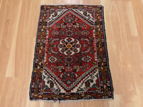 Persian Rug, 2' 1 x 3' Red Hamedan