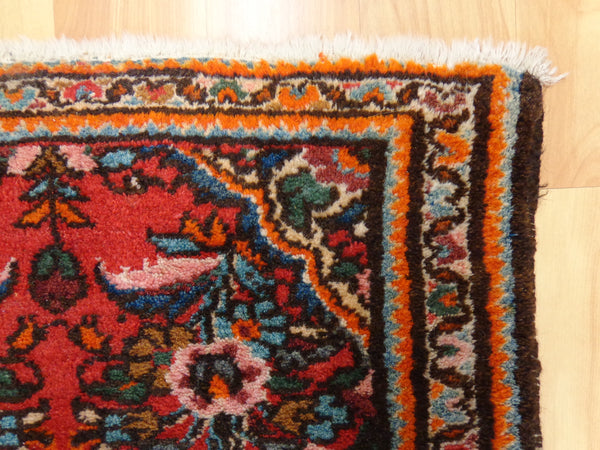 Persian Rug 2' 1 x 3' 1 Red Hamedan