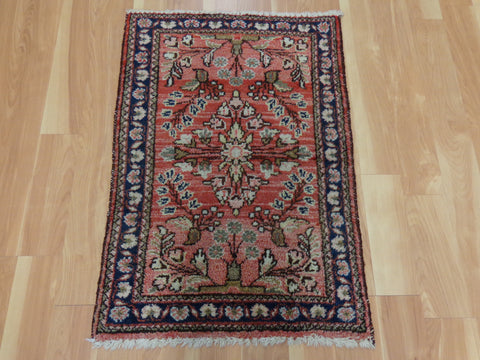 Persian Rug, 2' x 2' 11 Red Dergazine