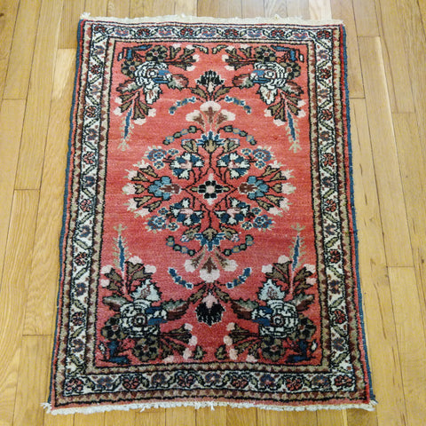 Persian Rug, 2' 3 x 3' 1 Red Hamedan