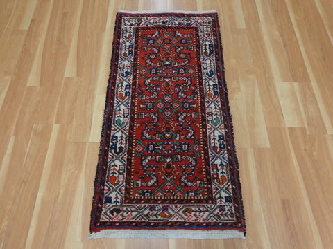 Persian Rug, 2' 3 x 4' 8 Red Hamedan