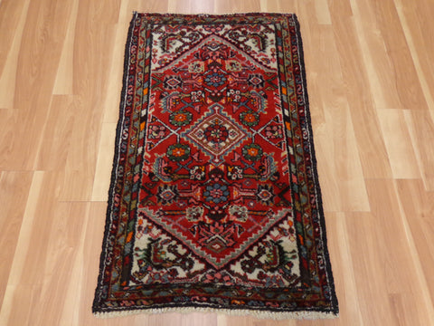 Persian Rug, 2' 4 x 3' 11 Red Hamedan