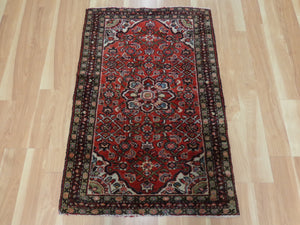 Persian Rug, 2' 6 x 3' 9 Red Borchelou - Jessie's Oriental Rugs