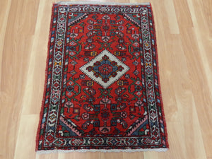 Persian Rug, 2' 2 x 3' 1 Red Hamedan
