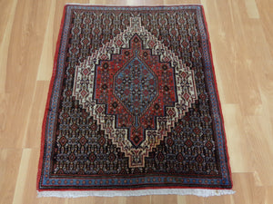 Persian Rug, 2' 6 x 3' 4 Brown Senneh