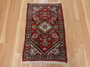 Persian Rug, 1' 10 x 3' 2 Red Hamedan