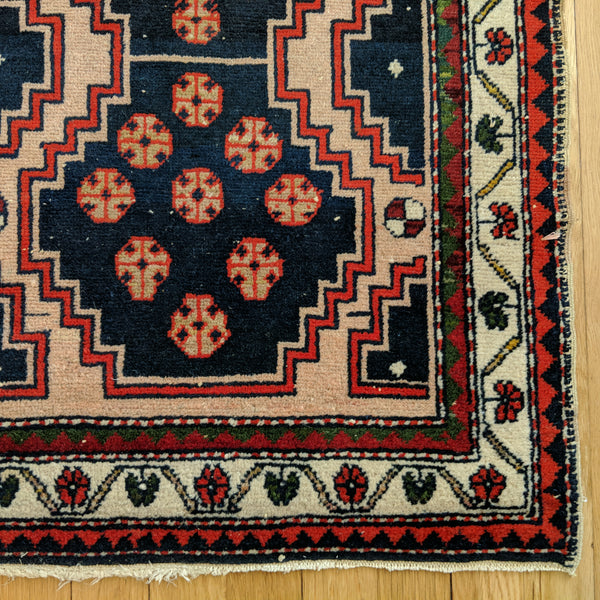 Turkish Rug, 2' x 3' 4 Beige Tribal