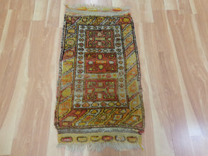 Turkish Rug, 1' 10 x 3' 5 Ivory Yastik