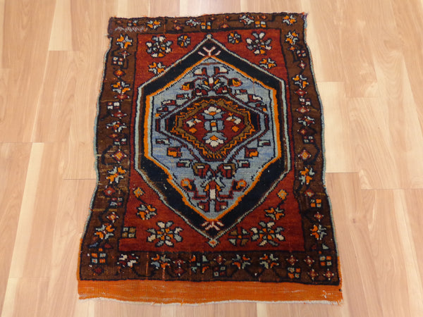 Turkish Rug, 2' 2 x 2' 11 Red Yastik - Jessie's Oriental Rugs