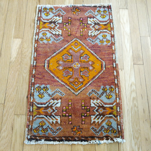 Turkish Rug, 1' 8 x 2' 9 Tribal - Jessie's Oriental Rugs