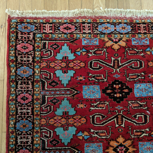 Tribal Rug, 3' 3 x 5' 3 Red