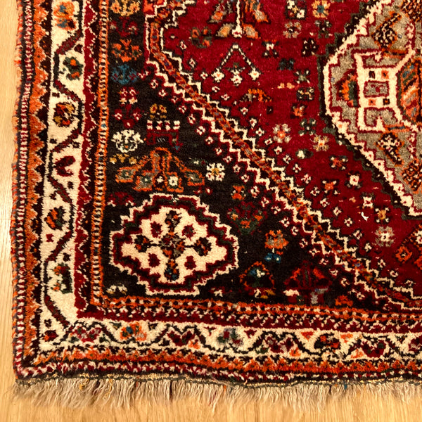 Vintage Rug, 3' 10 x 5' 5 Red Tribal