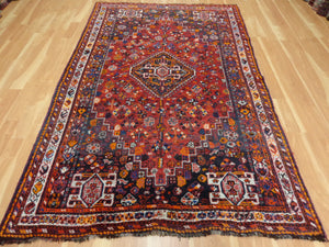 Persian Rug, 5' 7 x 8' 8 Blue Shiraz