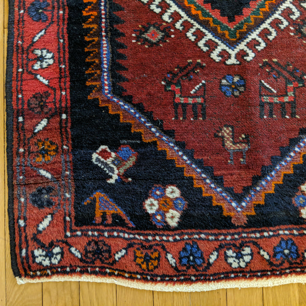 Persian Rug, 2' 5 x 3' 6 Black Tribal - Jessie's Oriental Rugs