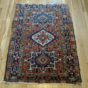 Persian Rug, 3' 2 x 4' 6 Orange Karaja - Jessie's Oriental Rugs