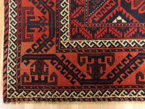 Baluch Rug, 3' 11 x 6' 7 Brown Tribal