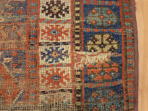 Turkish Rug, 5' 1 x 7' Blue Tribal - Jessie's Oriental Rugs