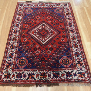 Persian Rug, 3' 11 x 5' 8 Blue Shiraz