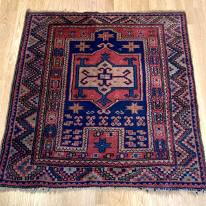 Turkish Rug, 3' 4 x 3' 8 Sparta