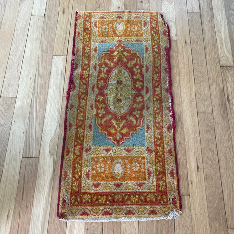 Turkish Rug, 1' 4 x 2' 11 Beige Yastik