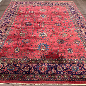 Turkish Rug, 8' 9 x 11' 10 Magenta Sparta