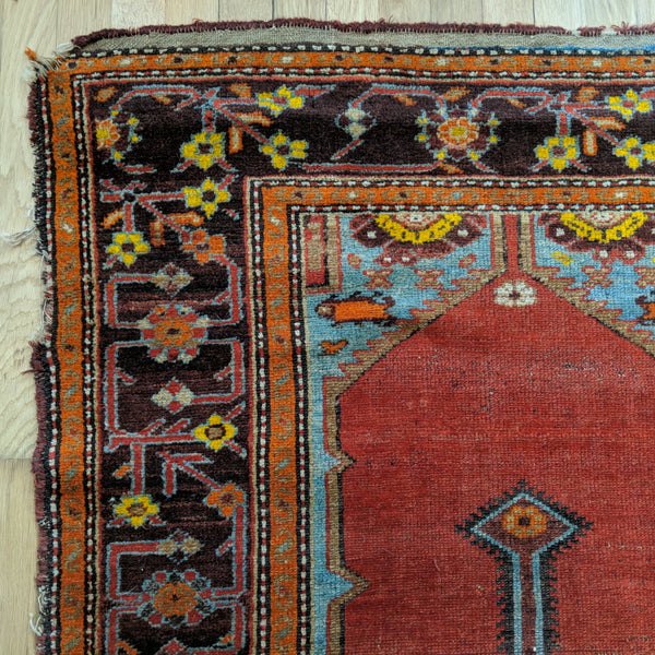 Turkish Rug, 3' 5 x 6' Red