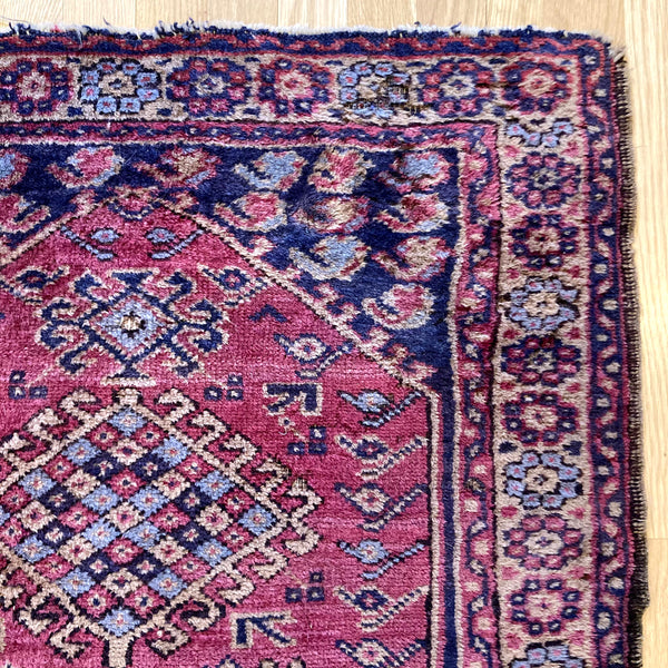 Turkish Rug, 2' 10 x 4' 5 Magenta Sparta