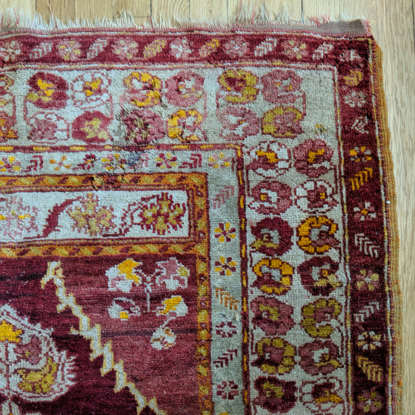 Antique Rug, 3' 9 x 5' Red