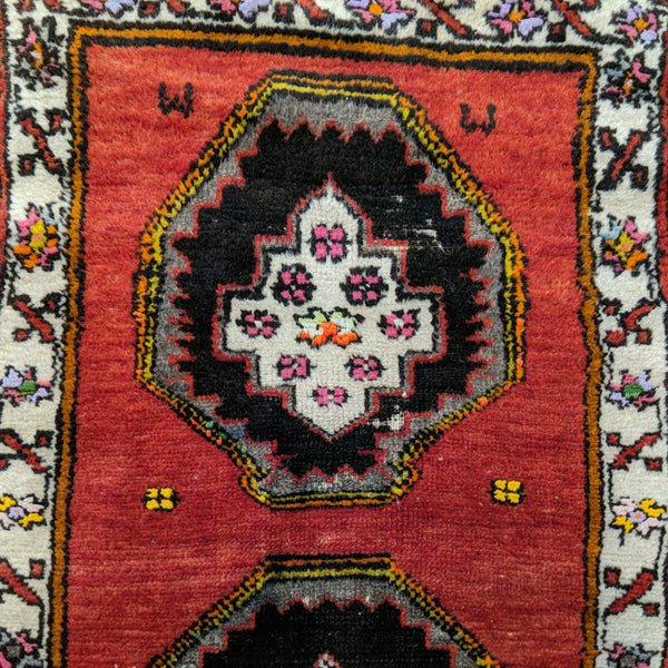 Turkish Rug, 1' 10 x 3' 1 Red Yastik