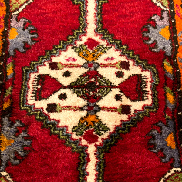 Turkish Rug, 1' 9 x 2' 11 Red Yastik
