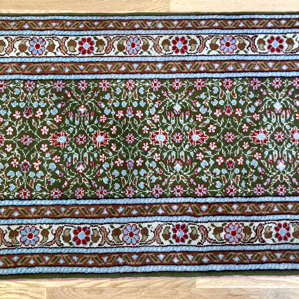 Turkish Runner, 2' x 5' 7 Green